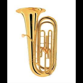 King King 1135W BBb Tuba - 3 Valve - Background Brass W Case