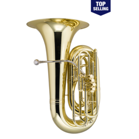 King King 2341WSP BBb Tuba - 4 Valve - Background Brass Silver Plated, W Case