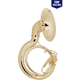 King King 2350W Sousaphone - Brass - Background Brass W Case