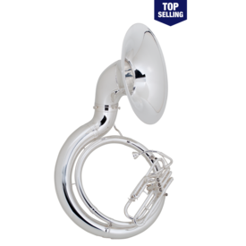 King King 2350WSP Sousaphone - Brass - Background Brass, Silver-Plated, W Case