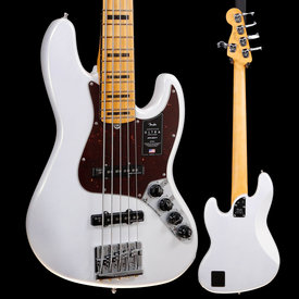 Fender Fender American Ultra Jazz Bass V, Maple Fb, Arctic Pearl 754 10lbs 2.4oz
