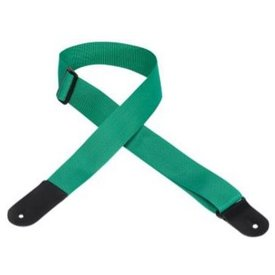 """Levy's Leathers Levy's M8POLYL-GRN 2"""" Melody Music Shop LLC logo Strap Green"""