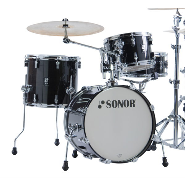 Sonor Sonor AQ2 Bop Kit 4pc Shell Pack, Transparent Black Lacquer
