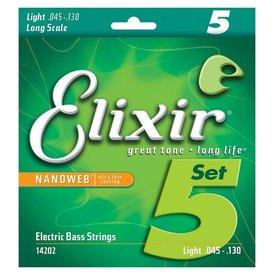 Elixir Elixir Strings 14202 Nanoweb Light Long Scale 5-String Electric Bass .045-.130
