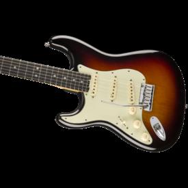 Fender Fender American Elite Stratocaster Left-Hand, Ebony Fb, 3-Color Sunburst