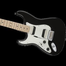 Squier Fender Contemporary Stratocaster HH Left-Handed, Maple Fb, Black Metallic