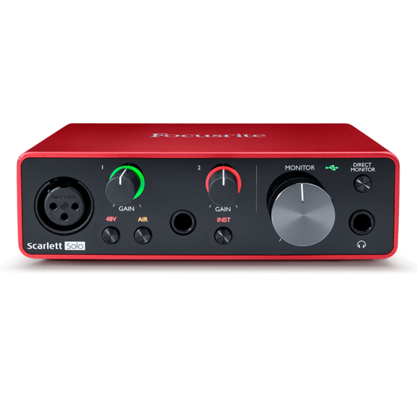 Focusrite Focusrite Scarlett Solo 3rd Gen USB Audio Interface 2-in / 2-out