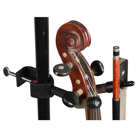 String Swing CC04V Mic Stand Violin Hanger with Bow Holder