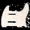 Fender Pickguard, Nashville Series Tele, White Moto, 4-Ply