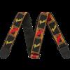 Fender 2'' Monogrammed Strap, Black/Yellow/Red