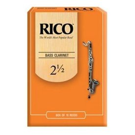 Rico Rico REA1025 Bass Clarinet Reeds 10 Pack Strength 2.5