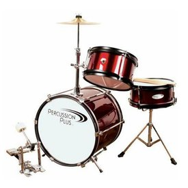 Percussion Plus Percussion Plus PPJR3WR 3-Piece Junior Drum Set, Wine Red