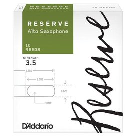 D'Addario Woodwinds (Previously Rico) D'Addario Reserve Alto Saxophone Reeds, Strength 3.5, 10-pack