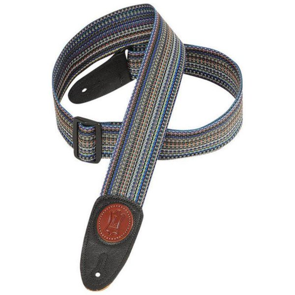 """Levy's Leathers Levy's MSS8-MLT 2"""" Signature Series Soft-Hand Polypropylene Guitar Strap"""