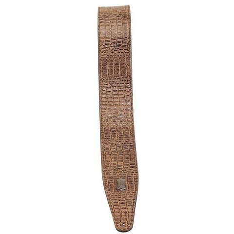 Levy's M317AG-BRN Simulated Alligator Leather Guitar Strap