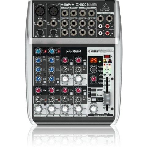 Behringer QX1002USB 10-Input 2-Bus Mixer, XENYX/EQ