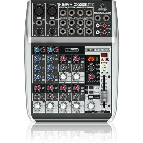 Behringer Behringer QX1002USB 10-Input 2-Bus Mixer, XENYX/EQ