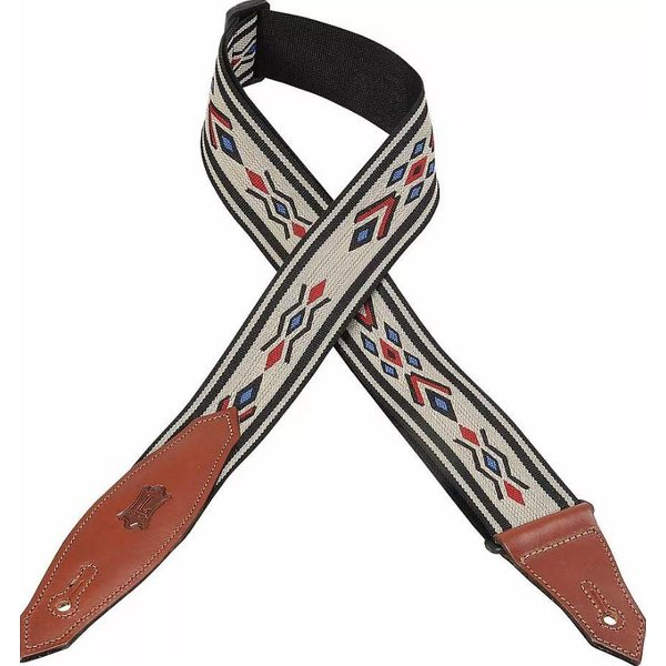 """Levy's Leathers Levy's MSSN80-MLT 2"""" Polypropylene Jacquard Weave Guitar Strap"""