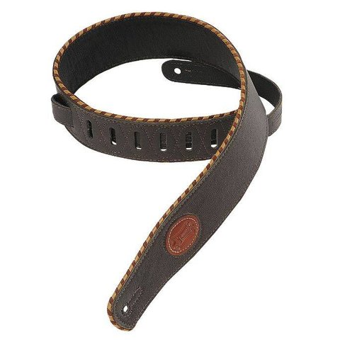"Levy's MSS13-DBR 2.5"" Signature Series Garment Leather Guitar Strap"