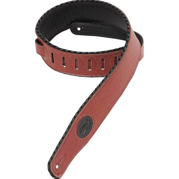 """Levy's Leathers Levy's MSS13-BRG 2.5"""" Signature Series Garment Leather Guitar Strap Burgundy"""