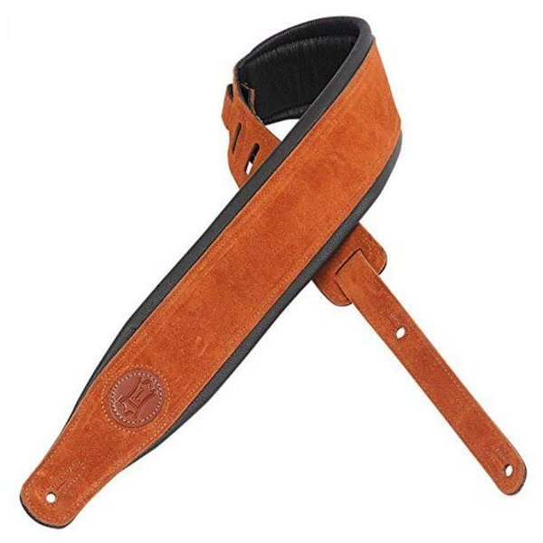 """Levy's Leathers Levy's MSS2S-CPR 3"""" Signature Series Suede Leather Guitar Strap"""