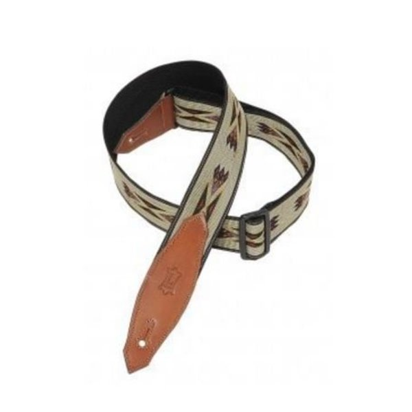 """Levy's Leathers Levy's MSSN80-TAN 2"""" Polypropylene Jacquard Weave Guitar Strap Tan"""