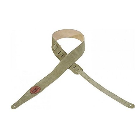 """Levy's MS217-GRN 2"""" Suede Leather Guitar Strap"""