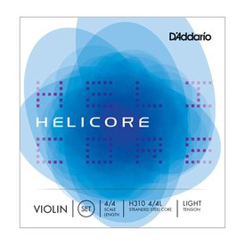 D'Addario Orchestral D'Addario Helicore Violin String Set with Wound E, 4/4 Scale, Light Tension