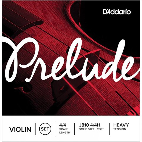 D'Addario Prelude Violin String Set, 4/4 Scale, Heavy Tension