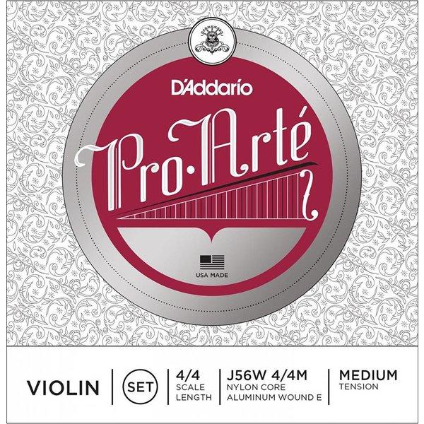D'Addario Orchestral D'Addario Pro-Arte Violin String Set with Wound E, 4/4 Scale, Medium Tension