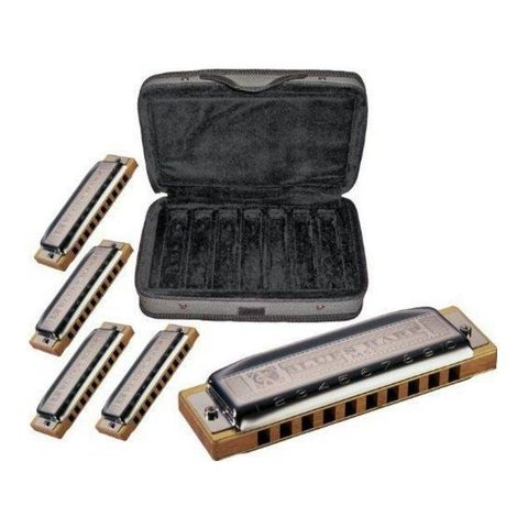 Hohner COB Case of Blues Harps (Model 532) Keys of A, C, D, G,& E