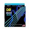 DR Strings NBE-10 Med Hi-Def NEON BLUE: Coated Electric: 10, 13, 17, 26, 36, 46