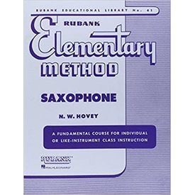 Hal Leonard Rubank Elementary Method - Saxophone edited by N.W. Hovey Elementary Method