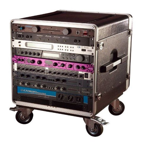 Gator GRC-BASE-14 14U Rack Base w/ casters, for Console Audio Racks