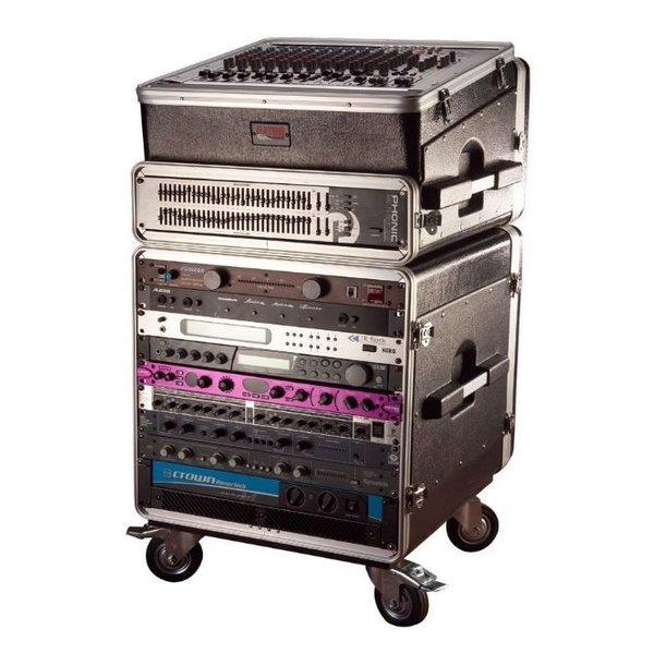 Gator Gator GRC-BASE-10 10U Rack Base w/ casters, for Console Audio Racks