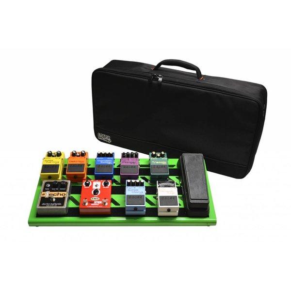 Gator Gator GPB-BAK-GR Green Aluminum Pedal Board; Large w/ Carry Bag