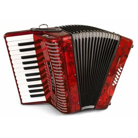Hohner Hohner 1303-RED 12 Bass Entry Level Piano Accordion Red