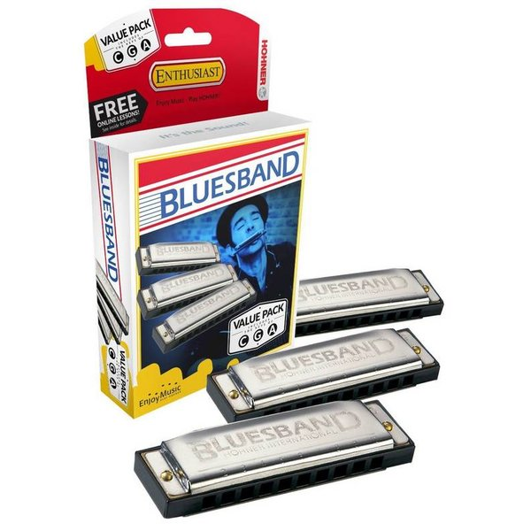Hohner Hohner 3P1501BX Bluesband Pro Pack 1501 In Keys G, A & C