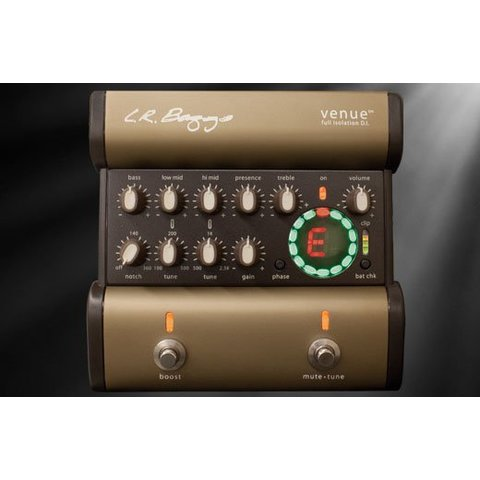 LR Baggs Venue DI Full Isolation Acoustic Preamp EQ/DI/Tuner Footpedal