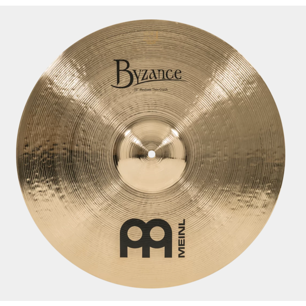 "Meinl Cymbals Meinl Byzance B19MTC-B Brilliant 19"" Medium Ride"