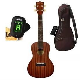 Makala Makala MK-C/PACK Contains: Makala Concert Ukulele, Bag, Tuner, and Instructions