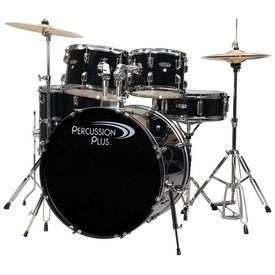 Percussion Plus Percussion Plus 5-Pc Drum Set - Black
