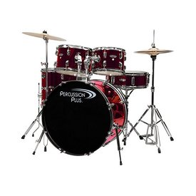 Percussion Plus Percussion Plus 5-Pc Drum Set - Metallic Wine Rd