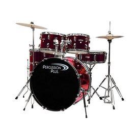 Percussion Plus Percussion Plus 5-Pc Drum Set - Metallic Wine Rd