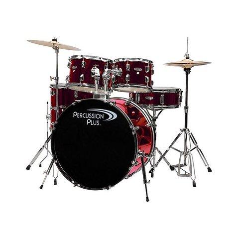 Percussion Plus 5-Pc Drum Set - Metallic Wine Rd