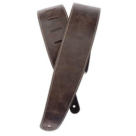 Planet Waves Planet Waves Stonewashed Leather Guitar Strap with Contrast Stitch, Brown