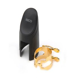 Rico H-Ligature & Cap, Tenor Sax for Hard Rubber Mouthpieces, Gold-plated