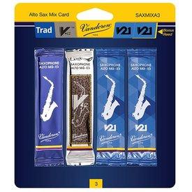 Vandoren Vandoren Alto Sax Mix Card includes 1 each Trad., V12, V21 and bonus V21 #3