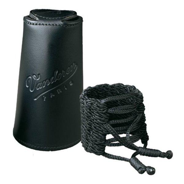 Vandoren Vandoren Klassik Ligature & Leather Cap for Bb Clarinet; Inc 3 Pressure Plates