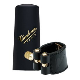 Vandoren Vandoren Leather Ligature & Plastic Cap for Alto Sax; Inc 3 Pressure Plates